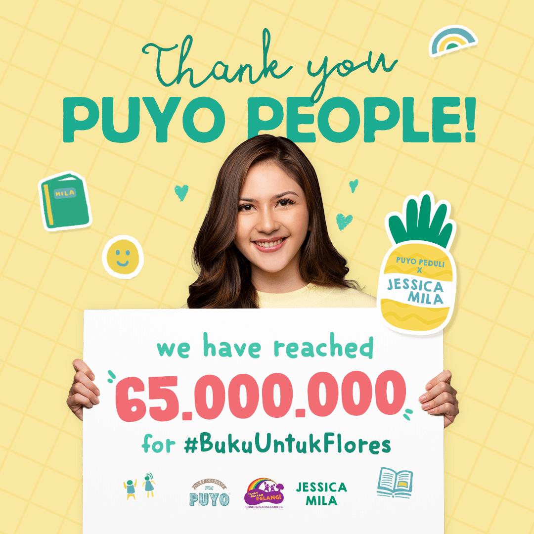 Puyo dan Jessica Mila Sediakan Buku Berkualitas untuk Anak-Anak di Flores